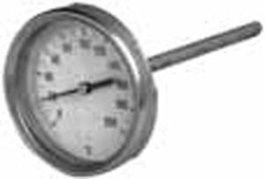 Termometro Industrial Bimetalico Clase2 Horizontal Termómetros de resistencia de silicio. ict sl