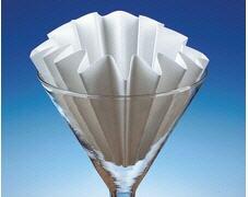 plegado de papel de filtro