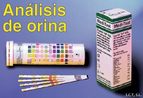 Tiras de teste de urina Teste para o pH, sangue